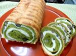 抹茶甘納豆渦巻きパン